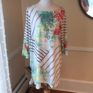 Zenergy by Chico's Size 3 Tunic/coverup In EUC